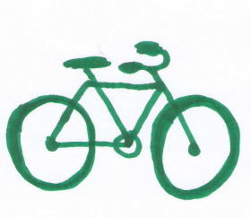 cykel grön